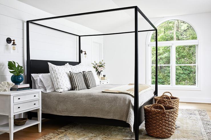 woven basket in bedroom