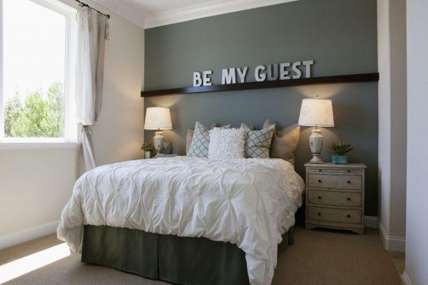 a cozy guest bedroom