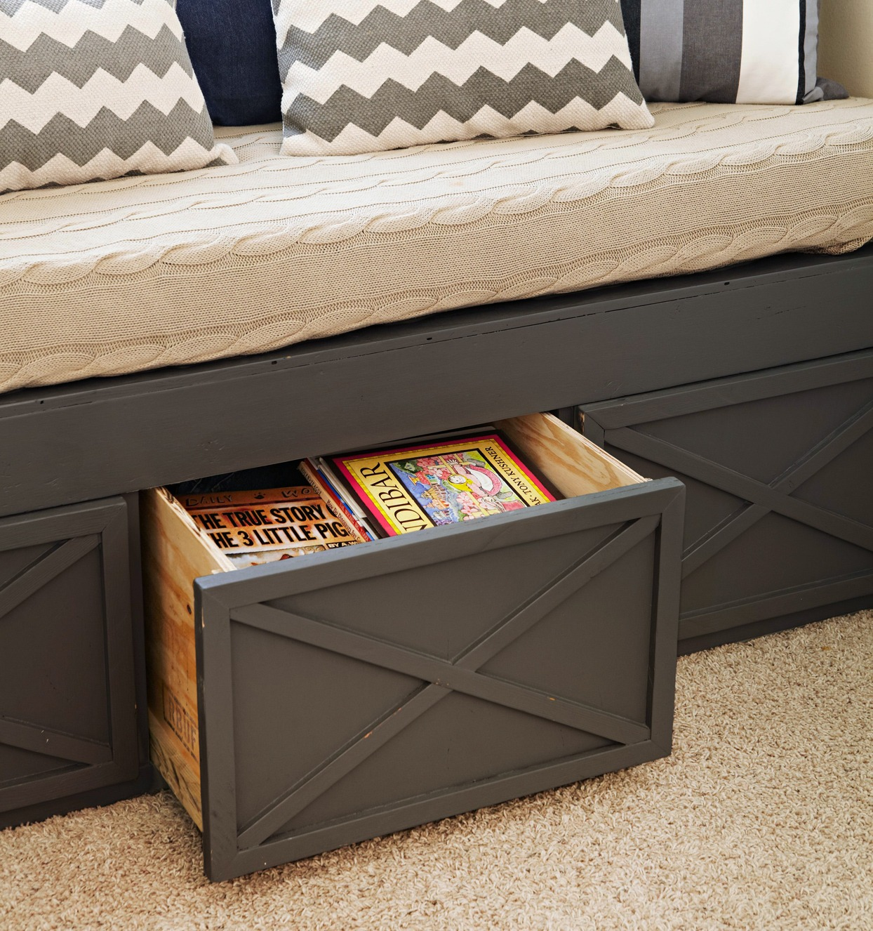 couch with storage