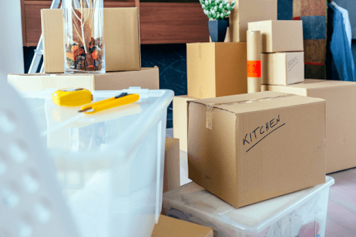packing supplies and boxes